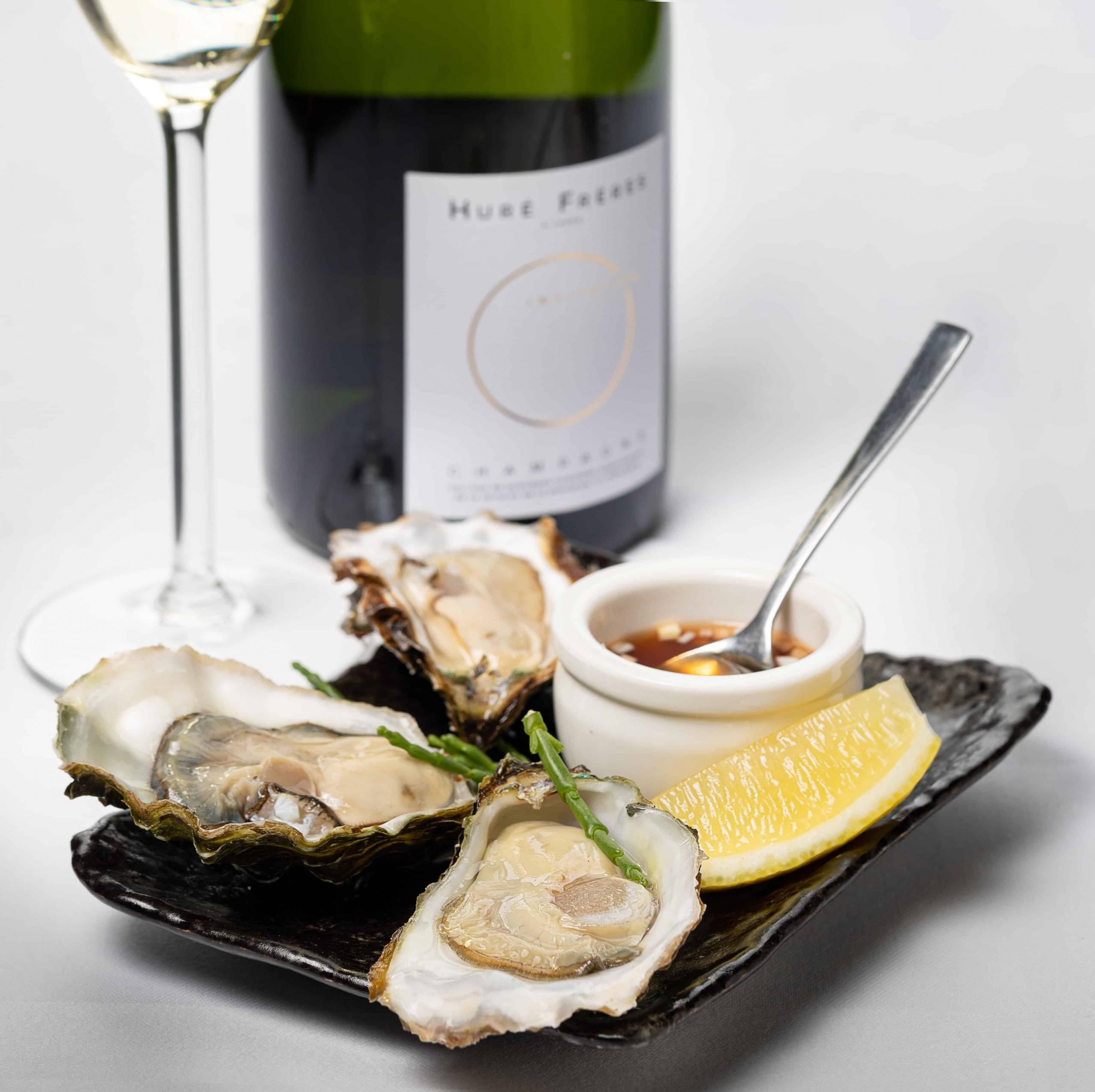 Zeeland oysters with Hure Freres Champagne